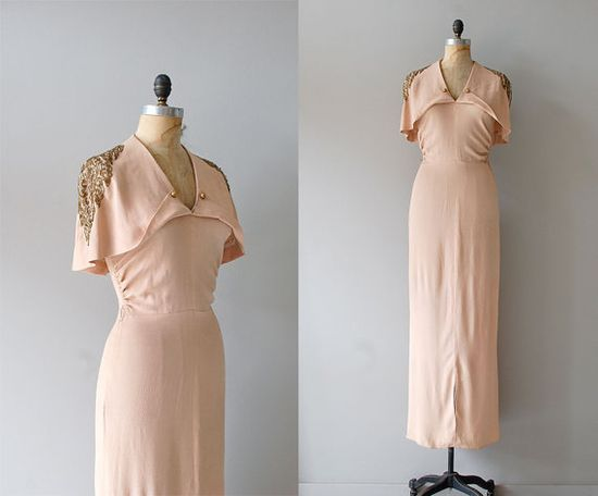 1930s Temple of Luxor dress