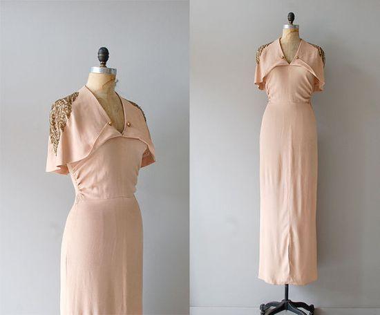 simply lovely.   1930s dress / 30s dress / Temple of Luxor dress by DearGolden, $545.00