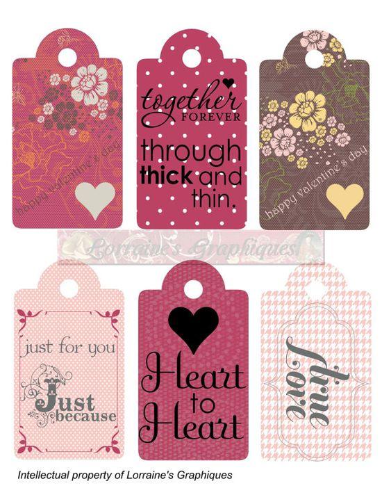 Romantic & Valentine Gift Tags