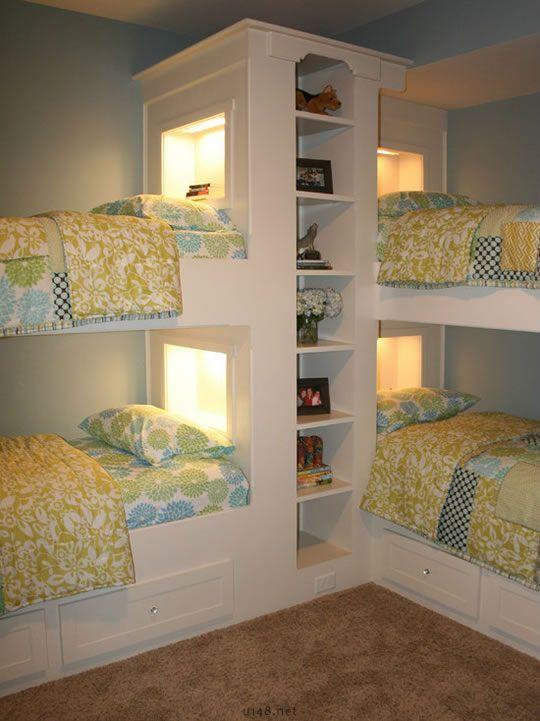 sweet bed room for kids; bunks beds for kids; home decor idea #bedroom #kids