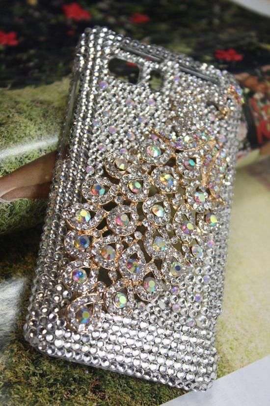Handmade Charms Rhinestone Bling Peacock Phone Case by handmadecn, $22.25