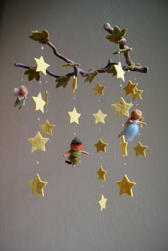 Peter Pan Mobile - so so sweet - i'd love to have this in their room...