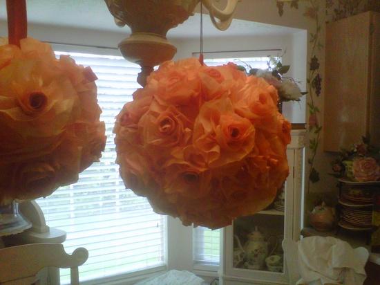 Handmade roses sphere