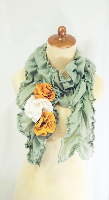 DIY Anthropologie scarf knock off,.