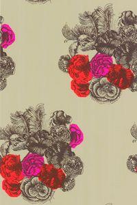 vintage floral + colour beautiful print.