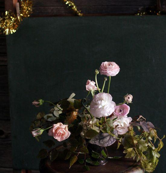 Floral arrangement of the prettiest pink blossoms—LOVE / #florals #arrangement