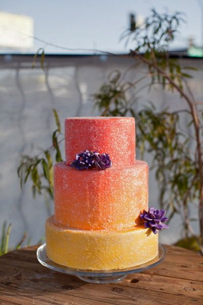 Orange and Yellow Ombre Cake by Gimme Some Sugar