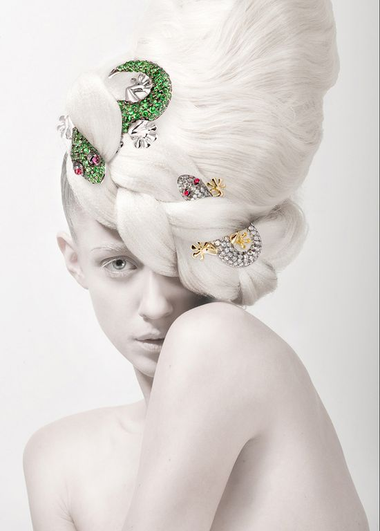 """""""PURE SEASON"""" by Silvia Bratanova this is just beautiful use of stones and jewels to create such an unusual avant Garde updo for hairstyle 2013  #ukhairdressers love this"""