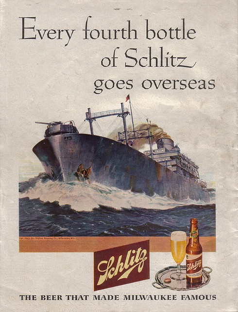 1945 Schlitz beer