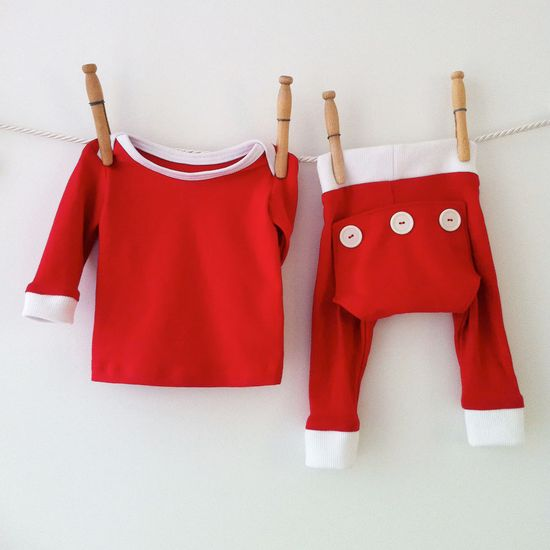 An adorable outfit for that first Christmas Eve. $40.00.
