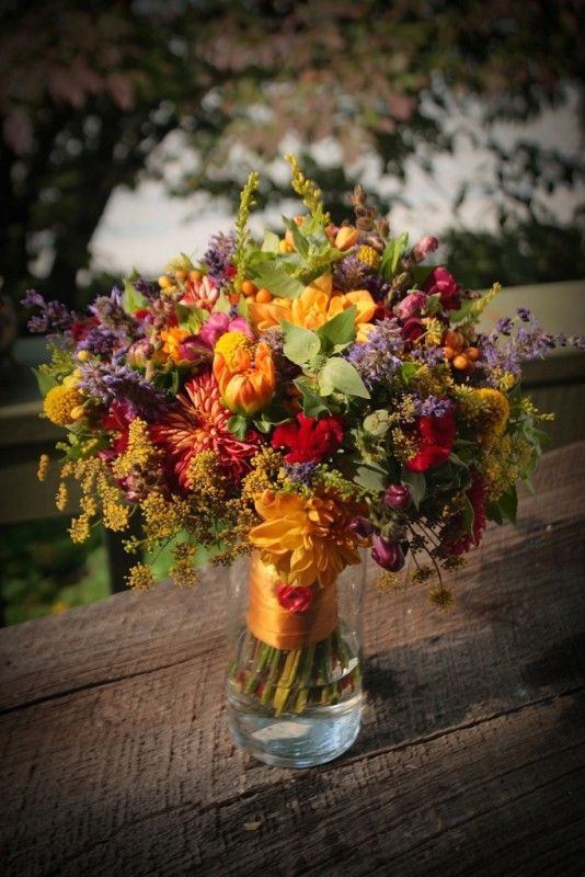 Vibrant bridal bouquet for summer- lots of fun colors to go well with any color bridesmaid's dress