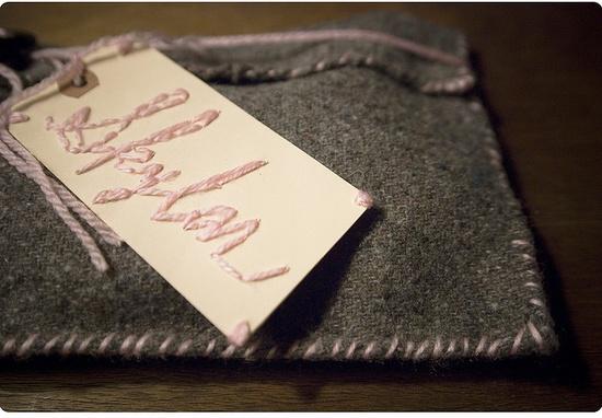 Handmade gift bag for a little girl.