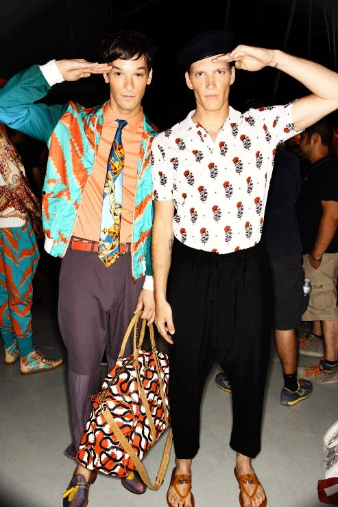 Vivienne Westwood SS14 Men Fashion Show Milan Backstage #fashion #moda