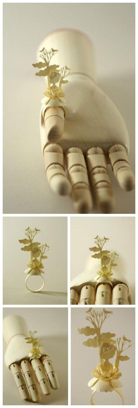 Amazing paper-cut work design