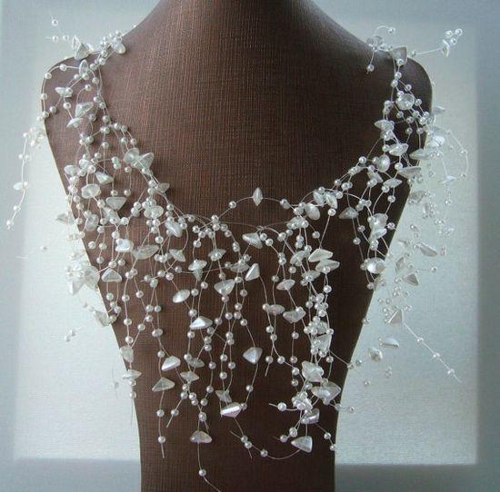 Handmade Fashion Jewelry Snow WhiteTrigon Mother by CraftsbySigita on Etsy