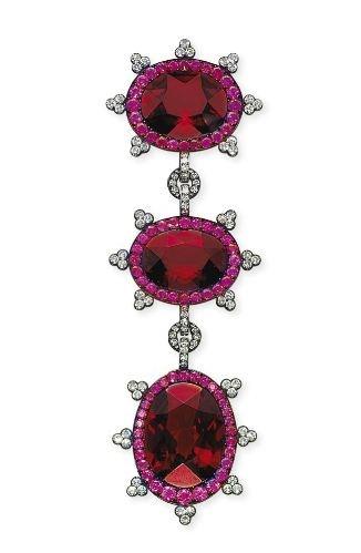 Garnet, Ruby and Diamond Brooch, JAR