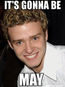 Haha. so silly. Happy May ;)
