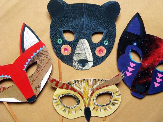 collage animal masks