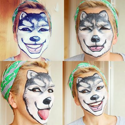 Wolf Face Painting Makeup: It's easier than you think....