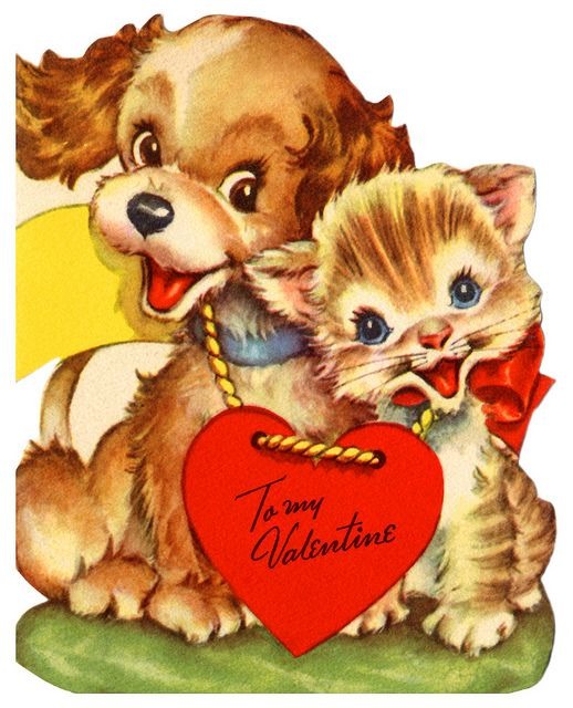 So cute...old valentines cards are the best...