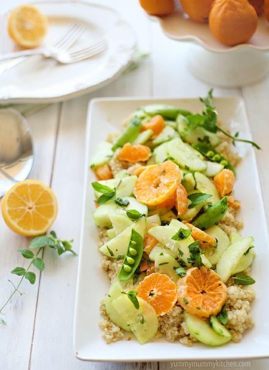 Spa Salad - Tangerine, Cucumber, Quinoa Salad
