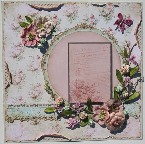 Shabby Chic scrapbook page