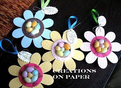 Sunburst Flower Treats - Tutorial at Creations On Paper