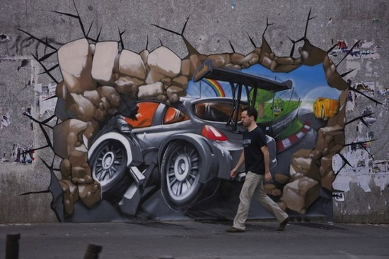 Get in the Game! Beautiful 3D Promotional Street Art by Design Inspiration Gallery, via Flickr