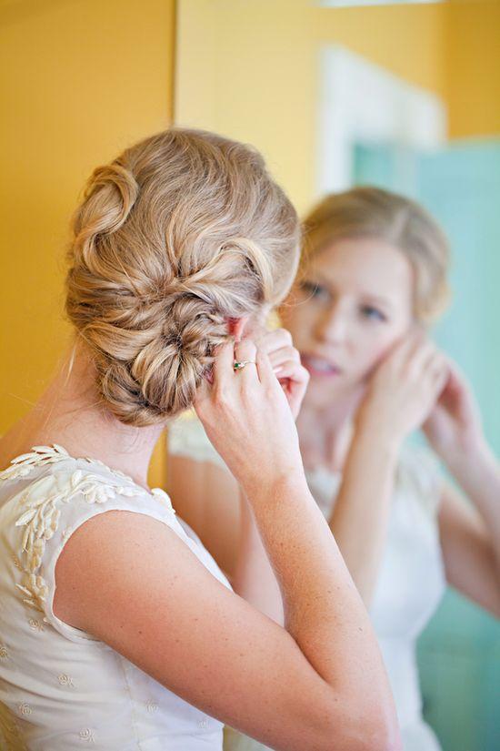 bridal hair // mirelle carmichael photography