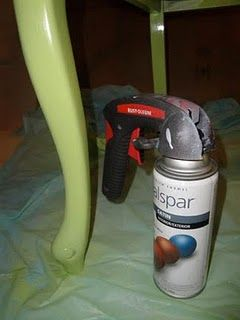 When painting furniture with spray paints use these instructions to give a professional look