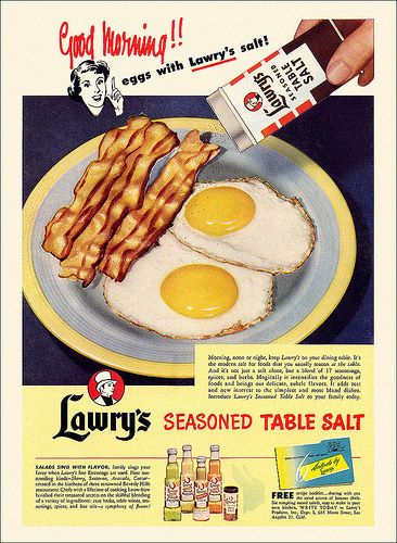 Say good morning with Lawry's Salt . #vintage #1950s #food #ads