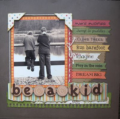 be a kid scrapbook layout