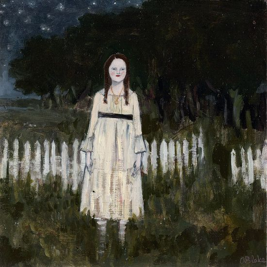 she would never stop waiting by amanda blake art, via Flickr