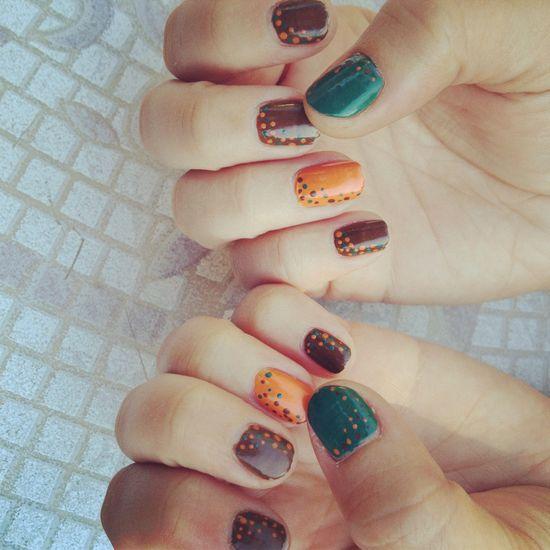 My fall nail design..!