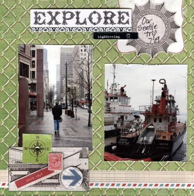#papercraft #scrapbook #layout #Disney Travel/Journey-Explore Page