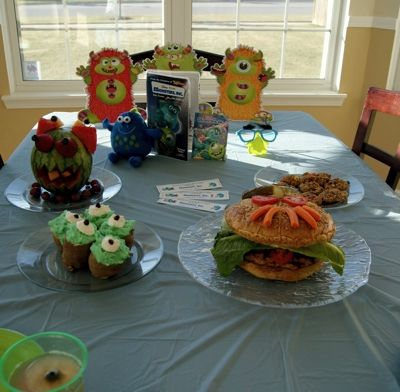 """A family movie night inspired by """"Monsters, Inc."""" How to make your own family movie night worth of a red carpet!"""