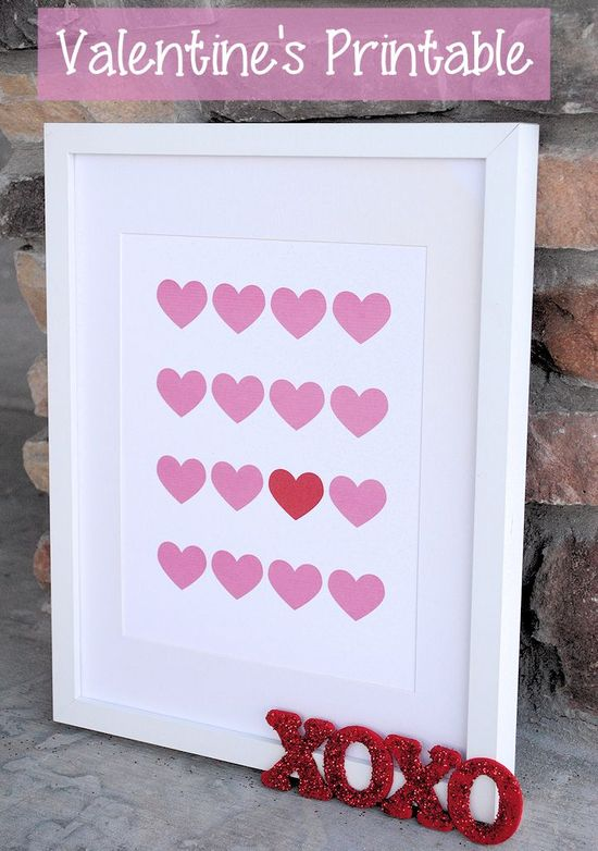Valentine's Printables-Heart Print for Your Home
