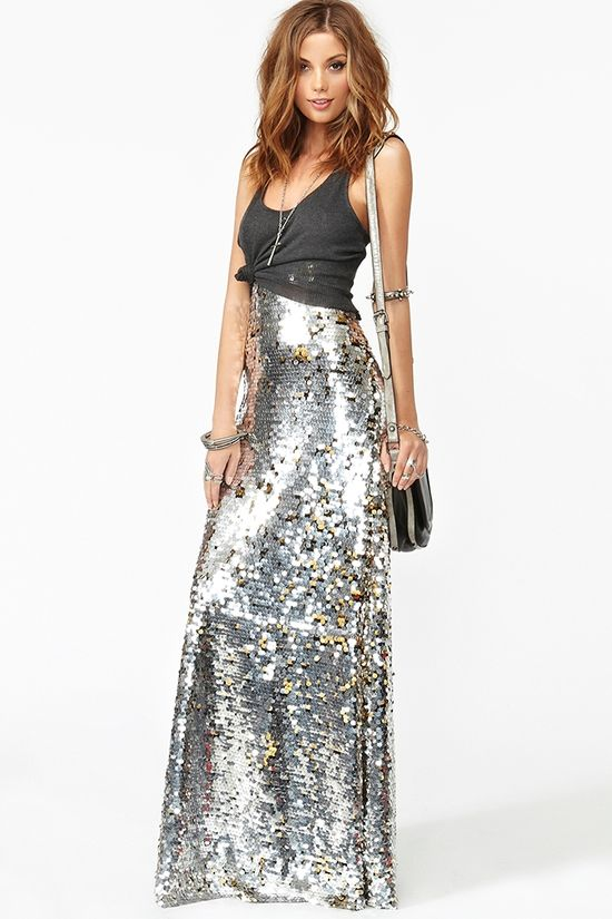 Sequin Maxi Skirt...Stop it! love