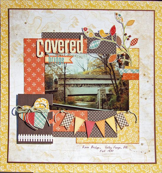 Covered Bridge *Scraptastic November* - Scrapbook.com