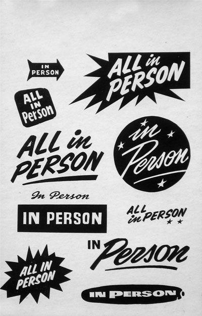 in person / globe poster specimens