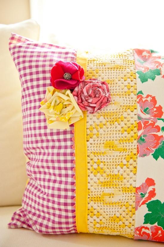 vintage-y pillow
