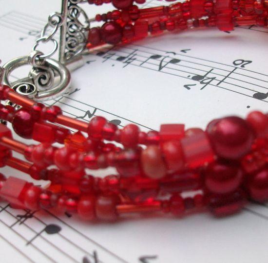 Rich Red beaded Bracelet