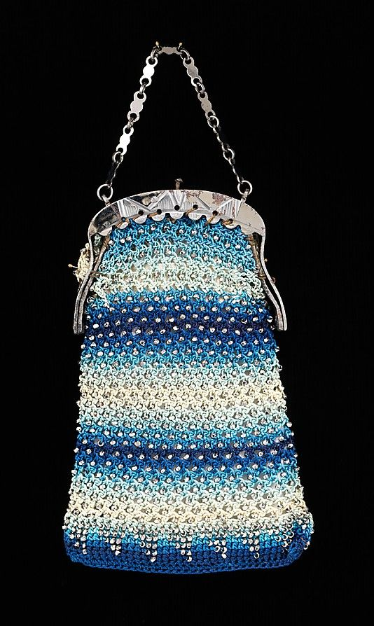 Beautifully crocheted and beaded purse