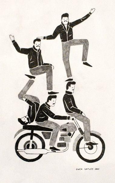 Live drawing at Pick Me Up by Owen Gatley's Illustration, via Flickr