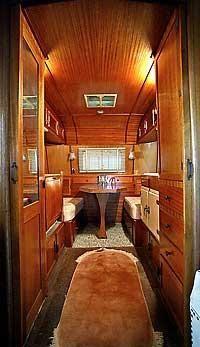 Vintage trailer, love the wood
