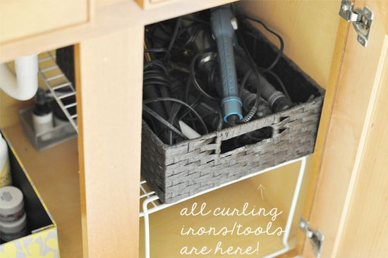 The Small Things Blog: Bathroom Organization (mine and what I wish it was)