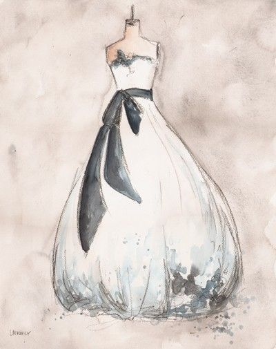 This artist will do a custom charcoal/paint rendering of your wedding dress on a dress form. What a great wedding gift from someone close to the bride!