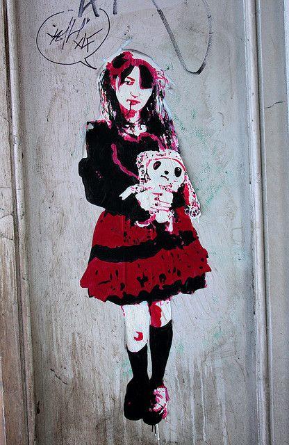 Harajuku goth graffiti