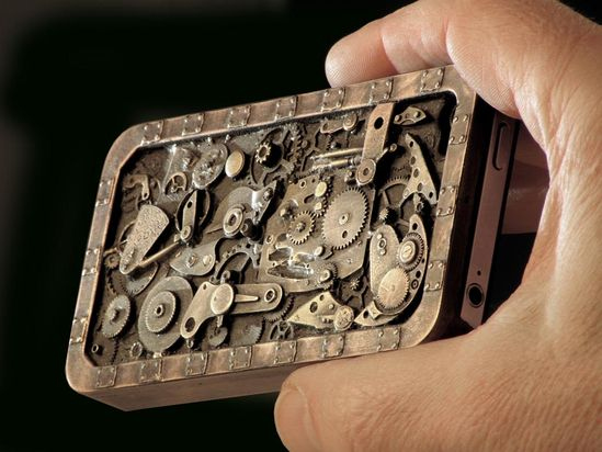 handmade steampunk iphone case