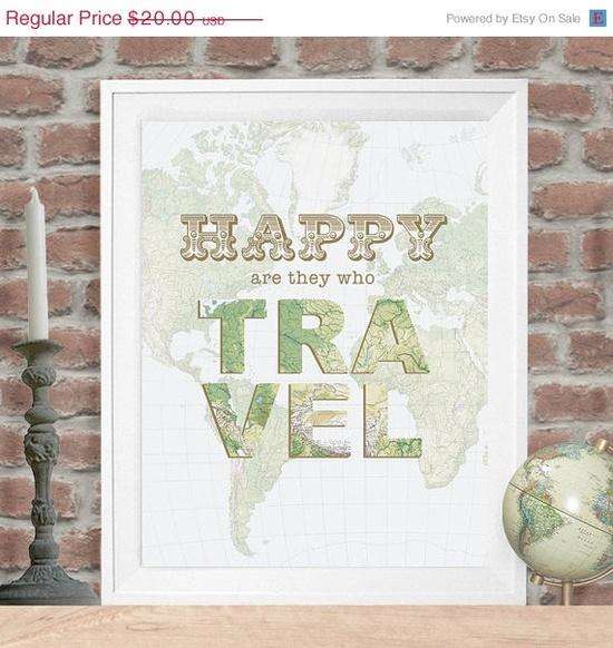 Happy Travel Poster